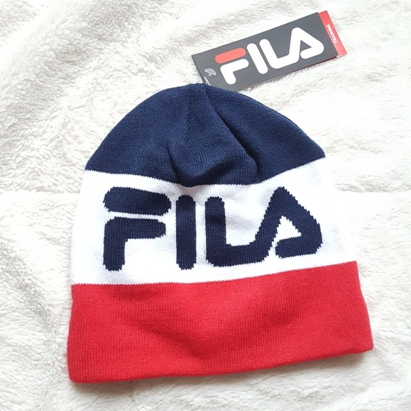 95e19474 Fila Accessories | Nwt Beanie Hatretro Classic Logo Hat | Poshmark